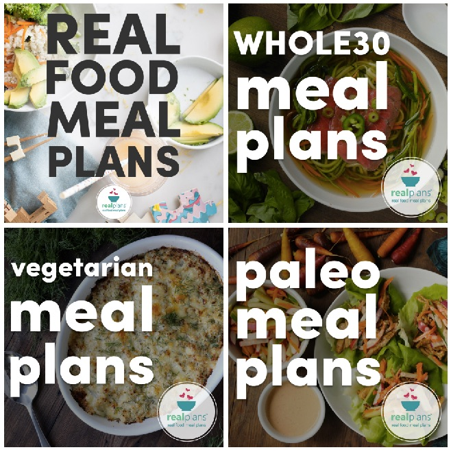 Real Plans - Weekly Healthy Meal Plans for a variety of special diets, made easy