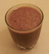 cherry smoothie - healthy frozen dessert milkshake