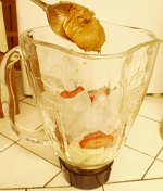 Easy Homemade Fruit Smoothie...peanut butter or almond butter comes next