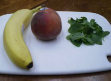 Mint Banana Peach Smoothie Ingredients